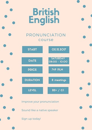 British Englih Pronounciation and Conversational classes